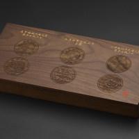 黑胡桃评级币三枚装造总\大清\北洋\套装盒