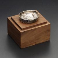 老钱庄单枚装黑胡桃十两川锭银锭纯实木收藏盒(1YDC)