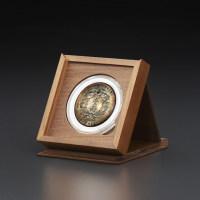 明式黑胡桃纯实木素面钱币收藏小匣(适用52圆盒)(MH1A)