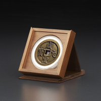 明式黑胡桃纯实木素面钱币收藏大匣(适用9.0圆盒)(MHC)