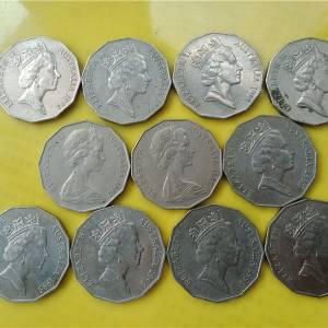 澳大利亚大型纪念币11枚