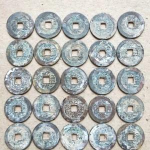 123枚薄锈乾隆通寳一起出售