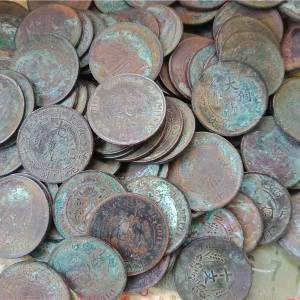 一起出的薄锈铜元117枚